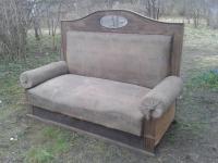 JAUNA CENA! Antīks turku dīvāns ar spoguli. Sofa.