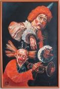 Серея Венецианского карнавала Клоуны ( акрил )