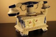 Фаянсовый телефон шкатулка Италия