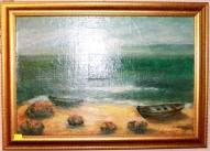 """Картина """"Где-то у моря"""" Латвия"""