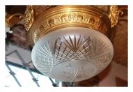 Люстра большая бронзовая, на 8 ламп.