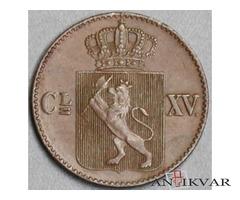 1 skilling 1870. norvēģija
