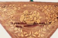 Антикварный инкрустированный складной карточный стол