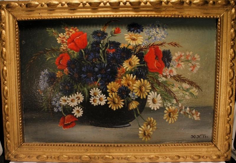 """Картина """"Цветы в вазе"""", - 1/3"""
