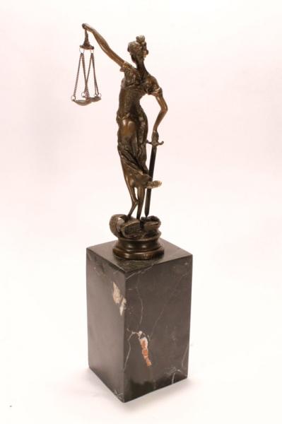 """Статуэтка из бронзы """"Правосудие"""" - 5/7"""