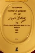 """""""Meissen"""" Настенная фарфоровая плитка Ludwig van Beethoven ГДР с сертификатом - Attēls 9/11"""