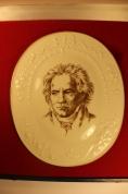 """Meissen"" Настенная фарфоровая плитка Ludwig van Beethoven ГДР с сертификатом"