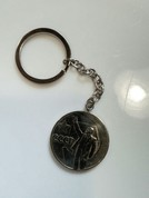 Орегинальный брелок удачи к деньгам, монета 1 рубль В.В.Ленин