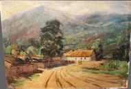 Картина Деревня в Крыму