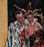 Пьеро и Арлекин (акрил)
