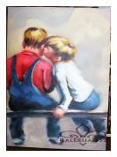 "Картина""Мальчики на скамейке"""