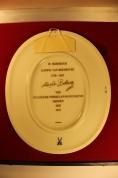 """""""Meissen"""" Настенная фарфоровая плитка Ludwig van Beethoven ГДР с сертификатом - Attēls 7/11"""