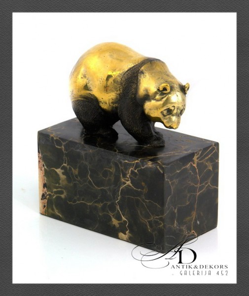 """Бронзовая статуэтка """"Панда"""" - 2/5"""