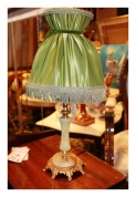 Настольная лампа с абажуром, оникс