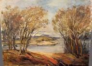 Картина у реки, Крым
