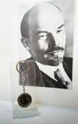 Орегинальный брелок удачи к деньгам, монета 1 рубль В.В.Ленин 1870-1970г