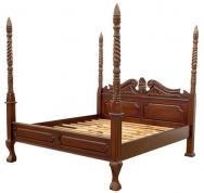 Кровать из красного дерева цена по запросу.