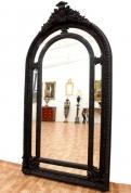Зеркало черное в стиле Людовика