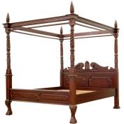 Кровать с навесом цена по запросу.
