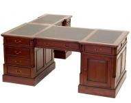 Угловой письменный стол из красного дерева