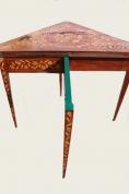 """Антикварный инкрустированный складной карточный стол """"Голландского барокко Marquetry 1730 год"""""""